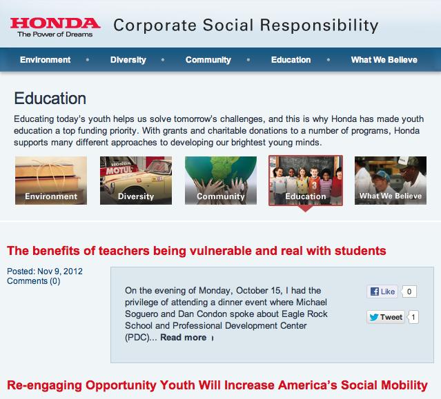 Honda Education Blog Jumping To The Next Curve