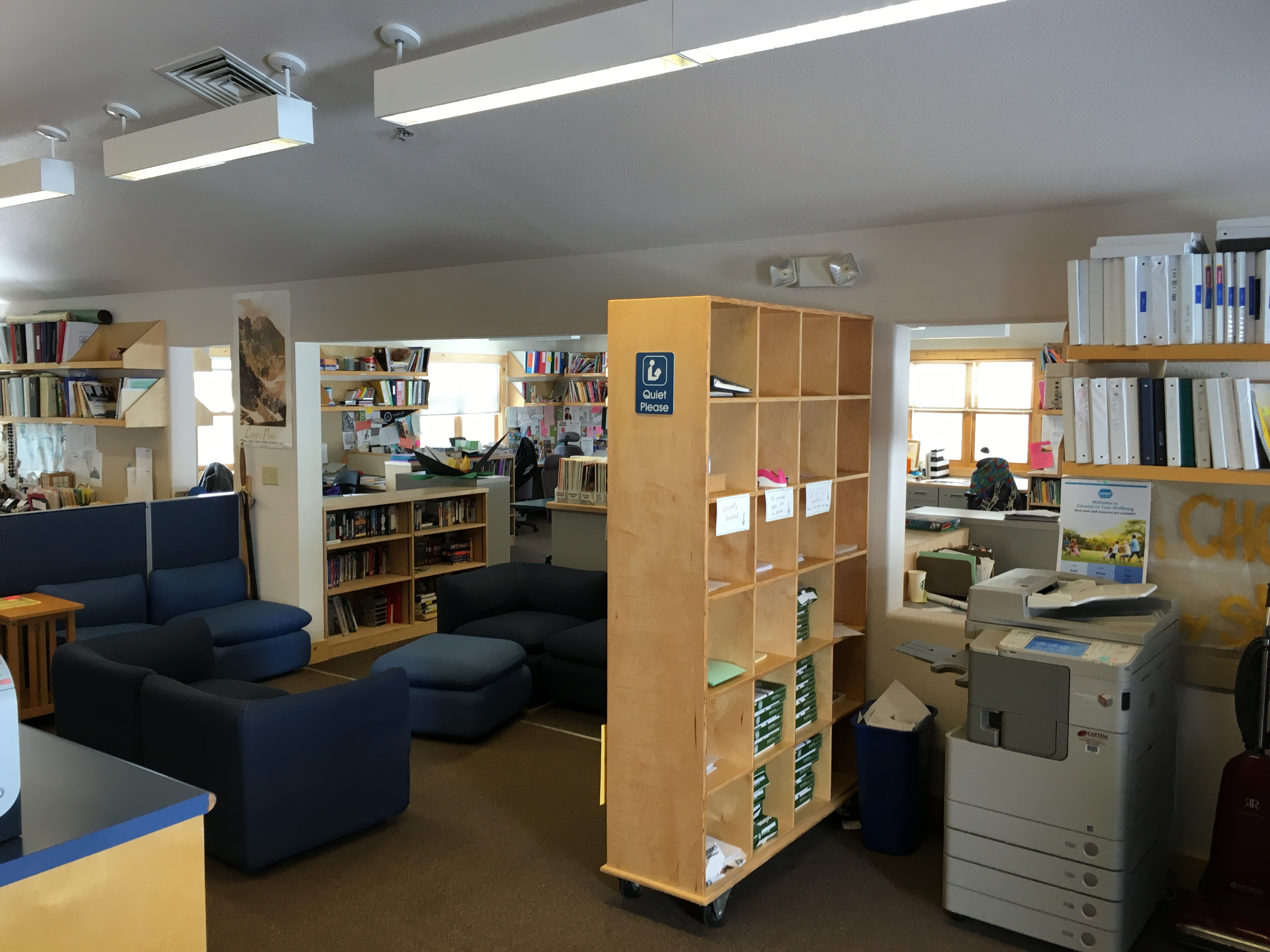 LRC Staff Office Space where IS' & Fellows work in this open