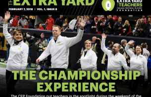 Extra Yard – College Football Playoff Foundation e-Newsletter – February Honoree