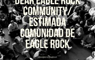 Dear Eagle Rock Community